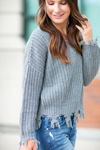 No Second Guessing Sweater in Gray