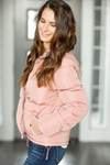 Heading To The Top Puffer Coat in Blush Pink