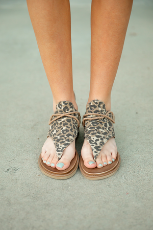 Very G Sparta Sandals in Animal Print