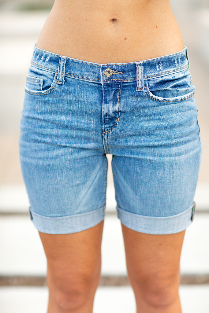 Sneak Peek Smooth Operator Denim Shorts
