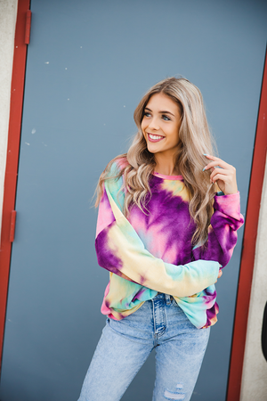 Lonely places Tie Dye Long Sleeve Top