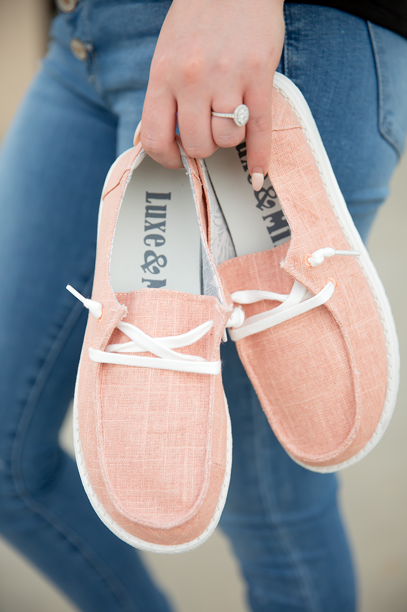 Very G Goes With Everything Slip on Sneakers in Blush