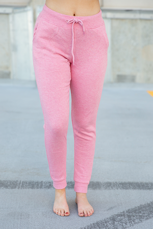 Relax With Me Joggers in Strawberry