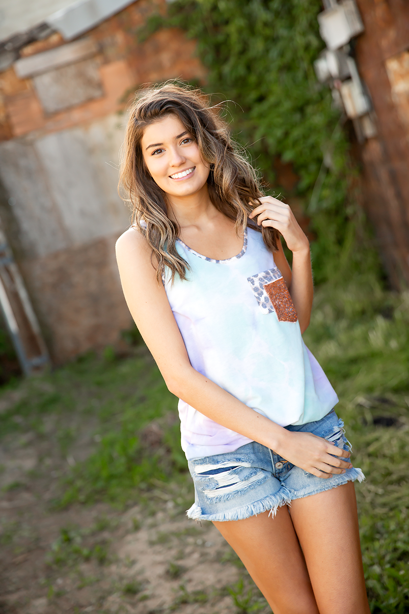 Kept Promises Tie Dye Tank in Mint and Lavender