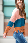 No Second Guessing Color Block Sweater (SALE)