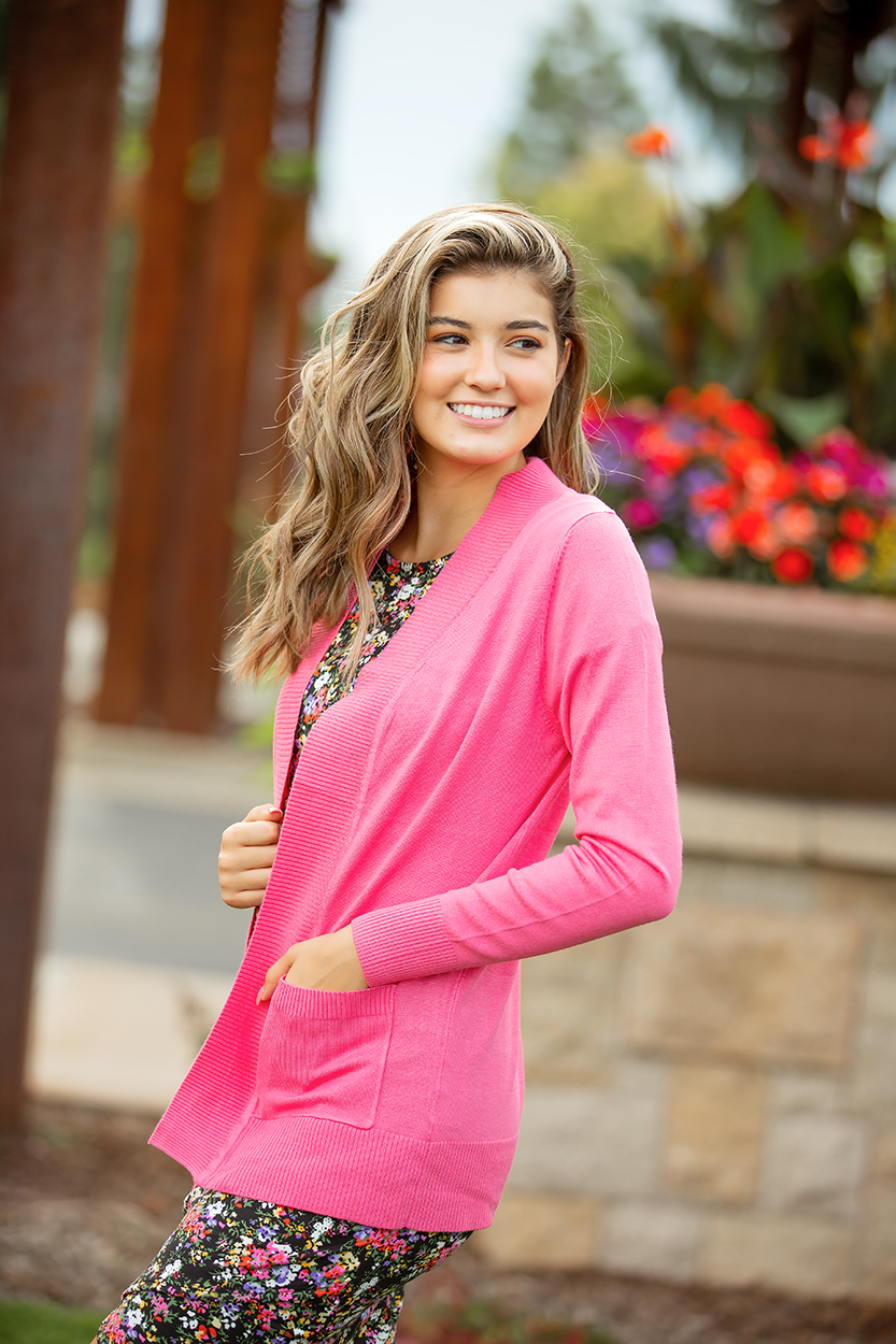 Everyday Cardigan in Coral Pink