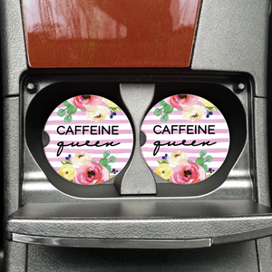 Caffeine Queen Car Coasters