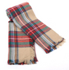 Classic Plaid Blanket Scarf- Red, Cream and Green