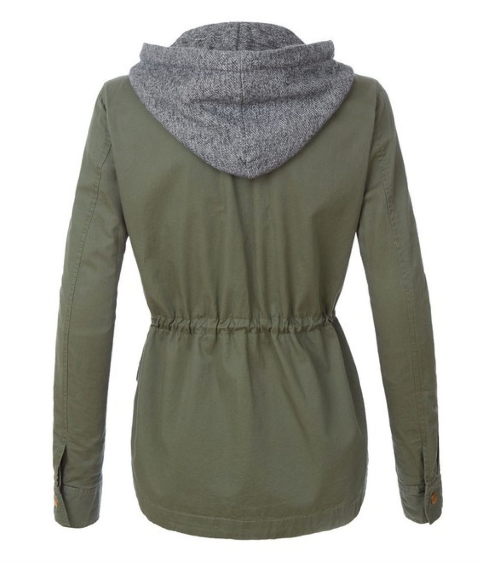 Take Charge Cargo Jacket With Hood in Olive