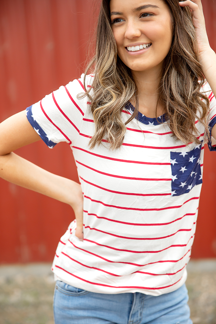 All American Star Pocket Tee