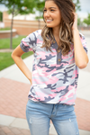 Take A Chance on Me Pink Camo Top