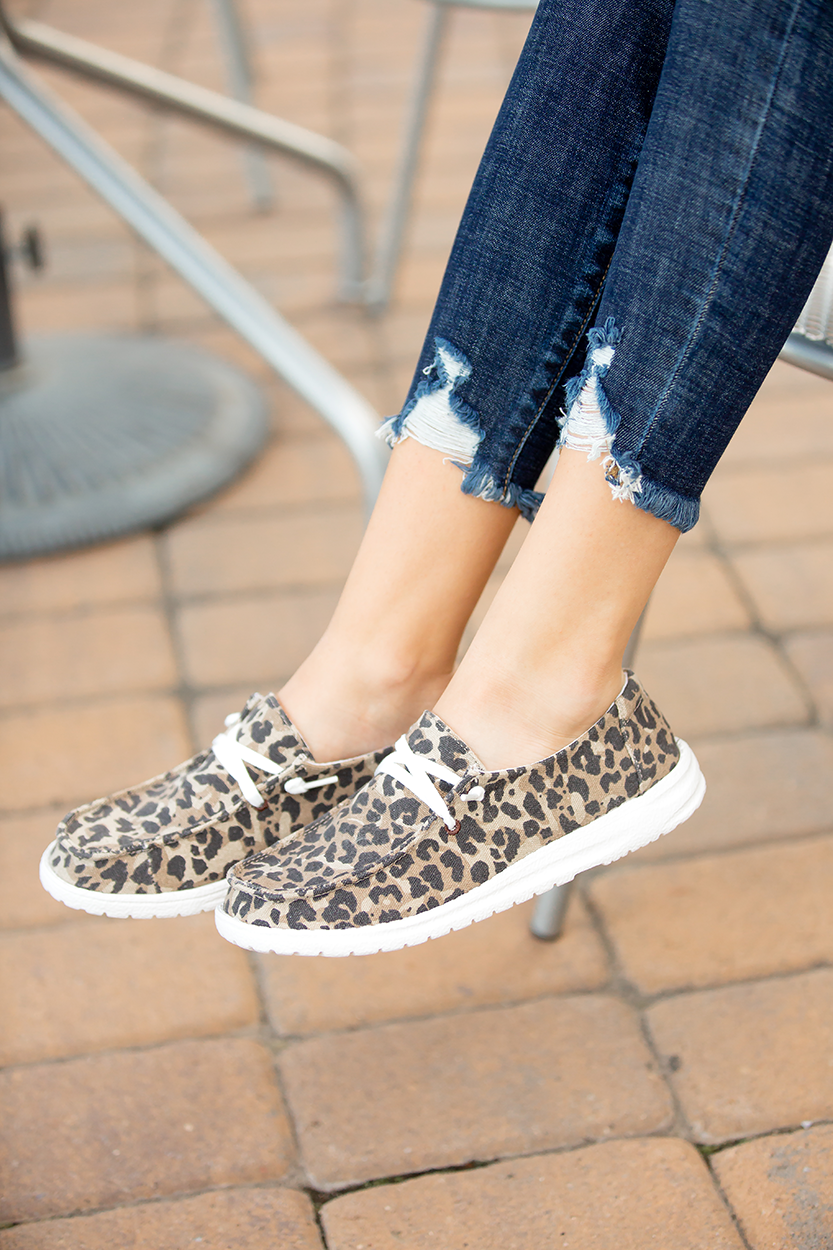 Very G Goes With Everything Slip on Sneakers in Animal Print
