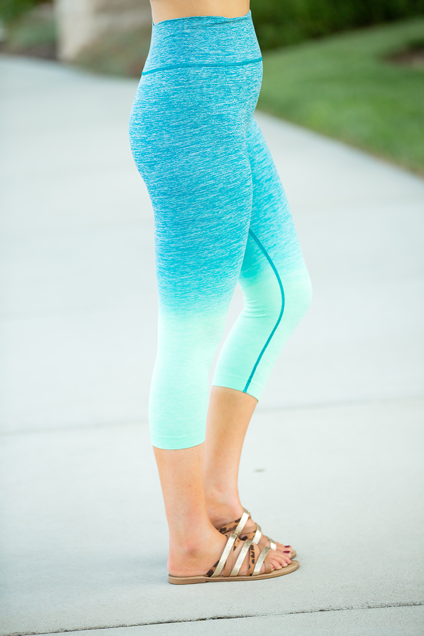 Enjoy the Party Capri Leggings in Teal