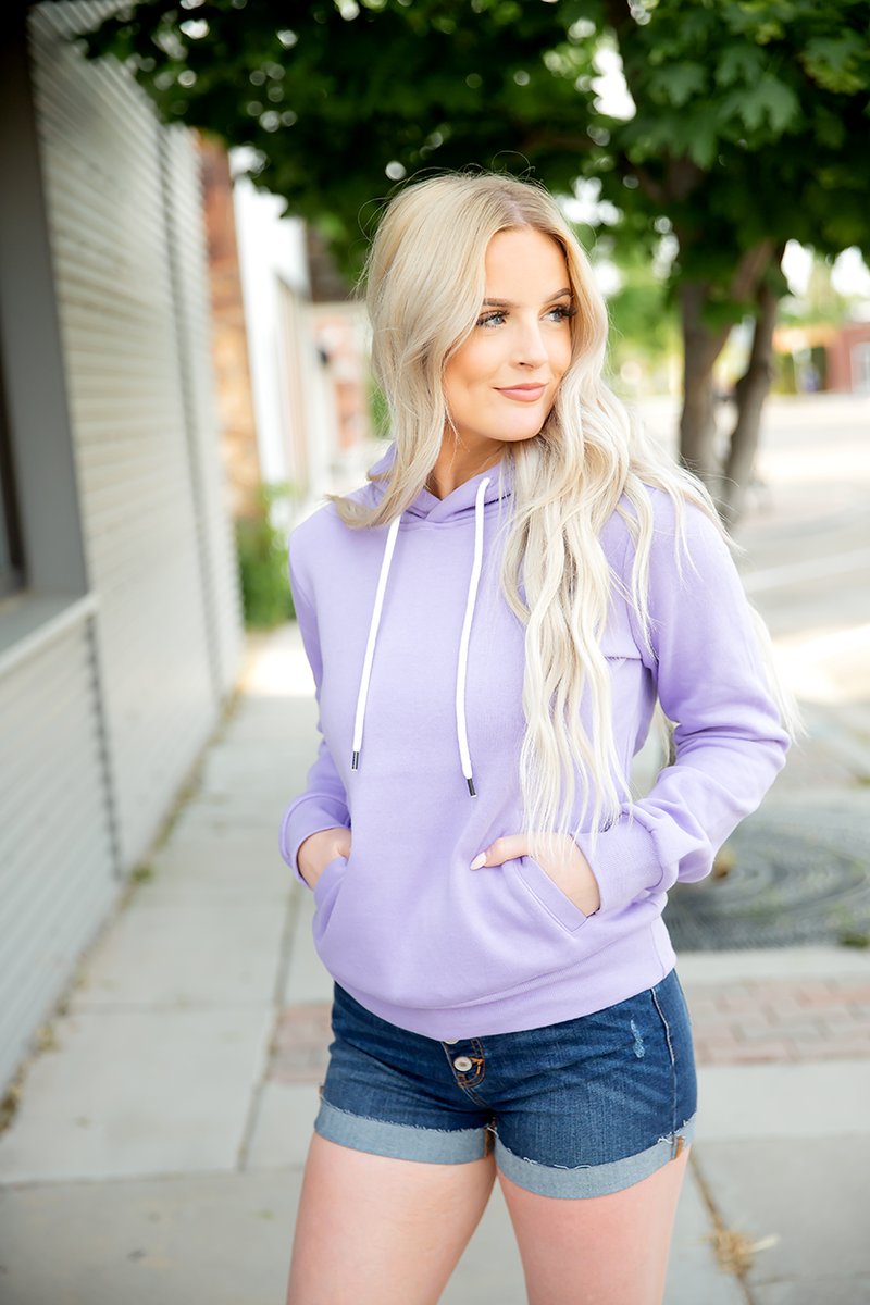 Follow Me Hoodie in Lilac