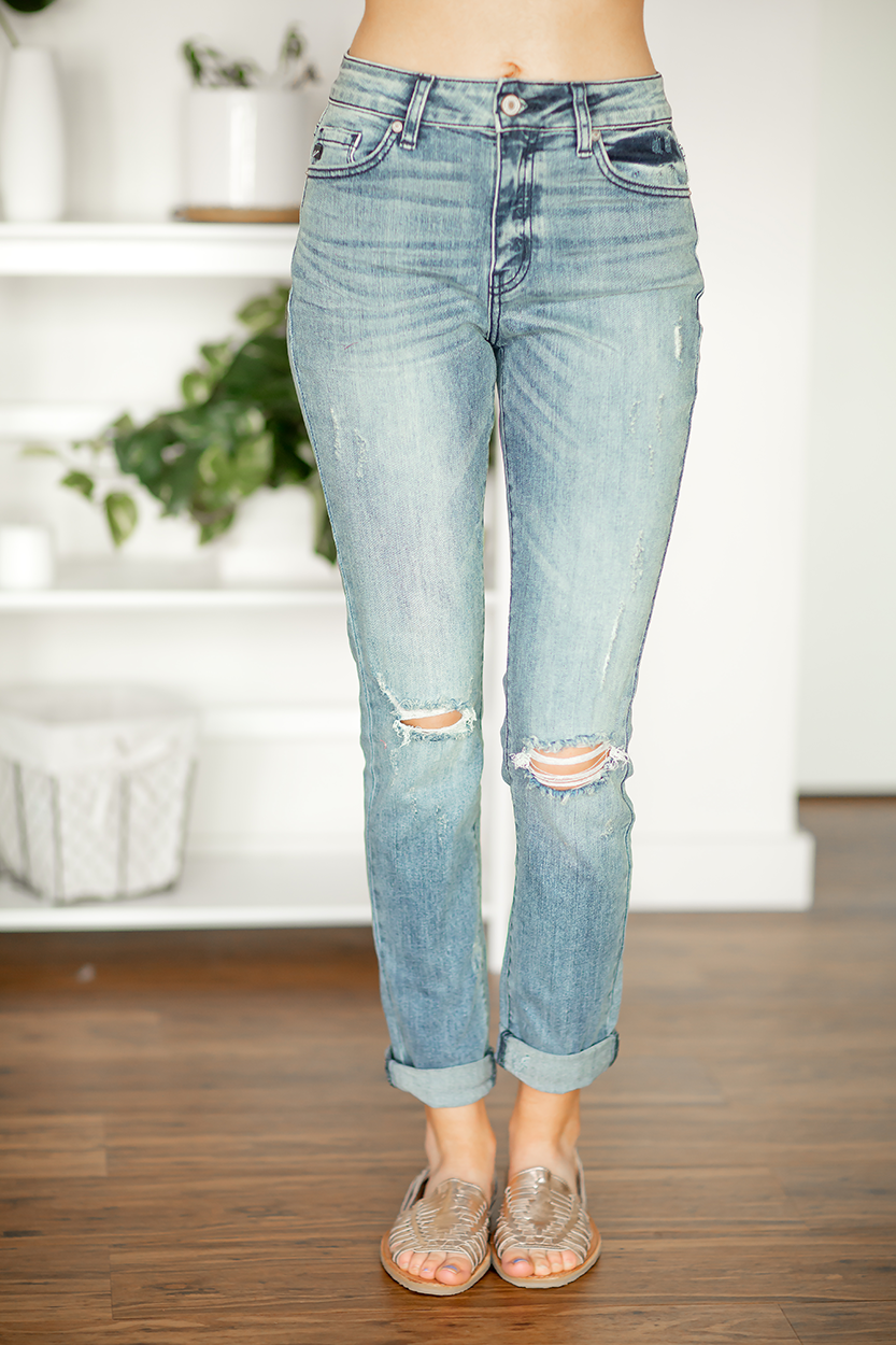 KanCan Lucky In Love Boyfriend Jeans