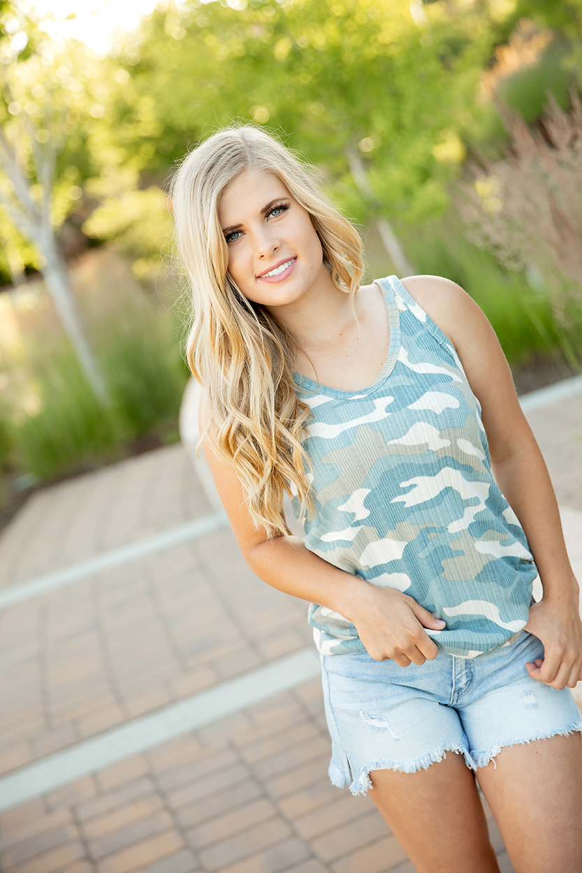 Final Answer Sage Cream and Camo Tank (SALE)