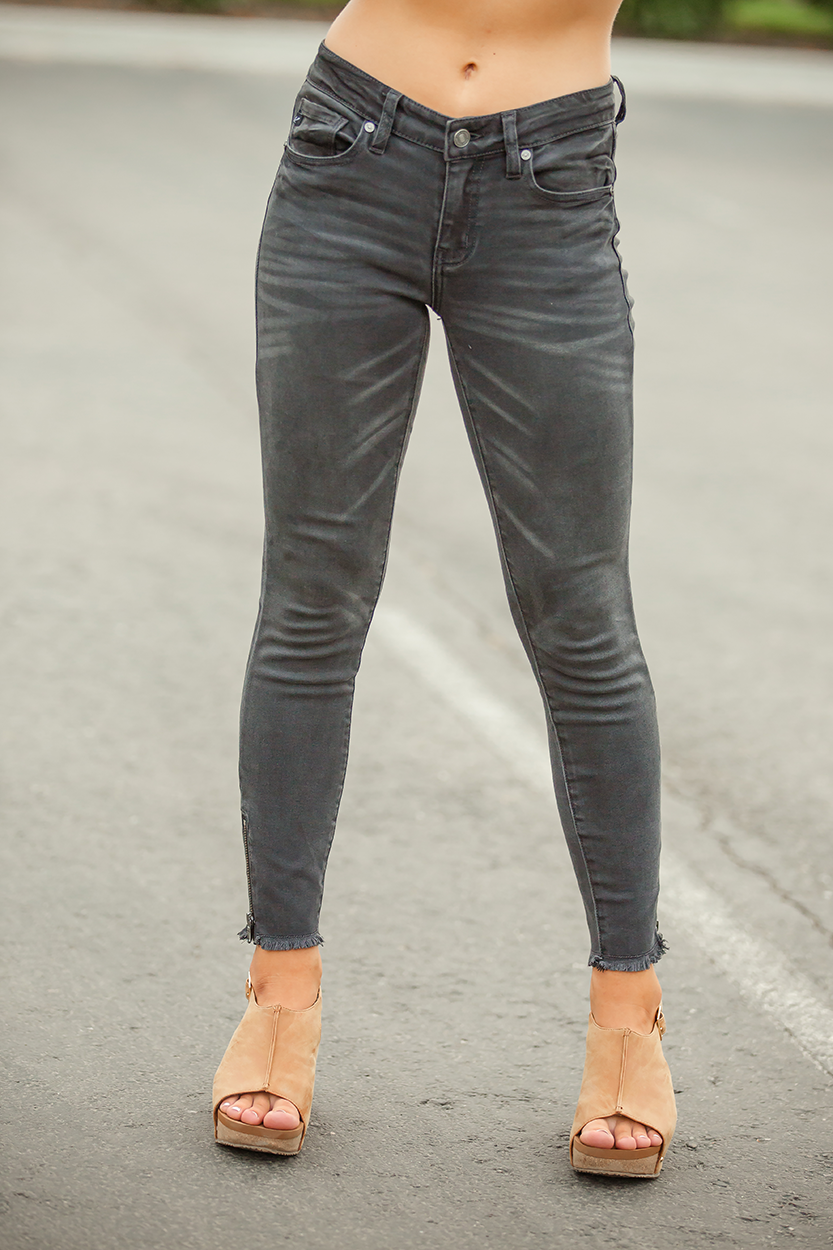 KanCan Our Town Low Rise Black Skinny Jeans