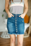 KanCan Denim Skirt with Buttons