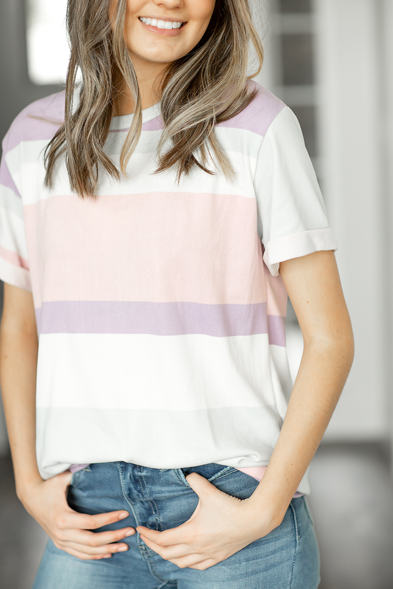 Jump Ahead Multi Colored Striped Top