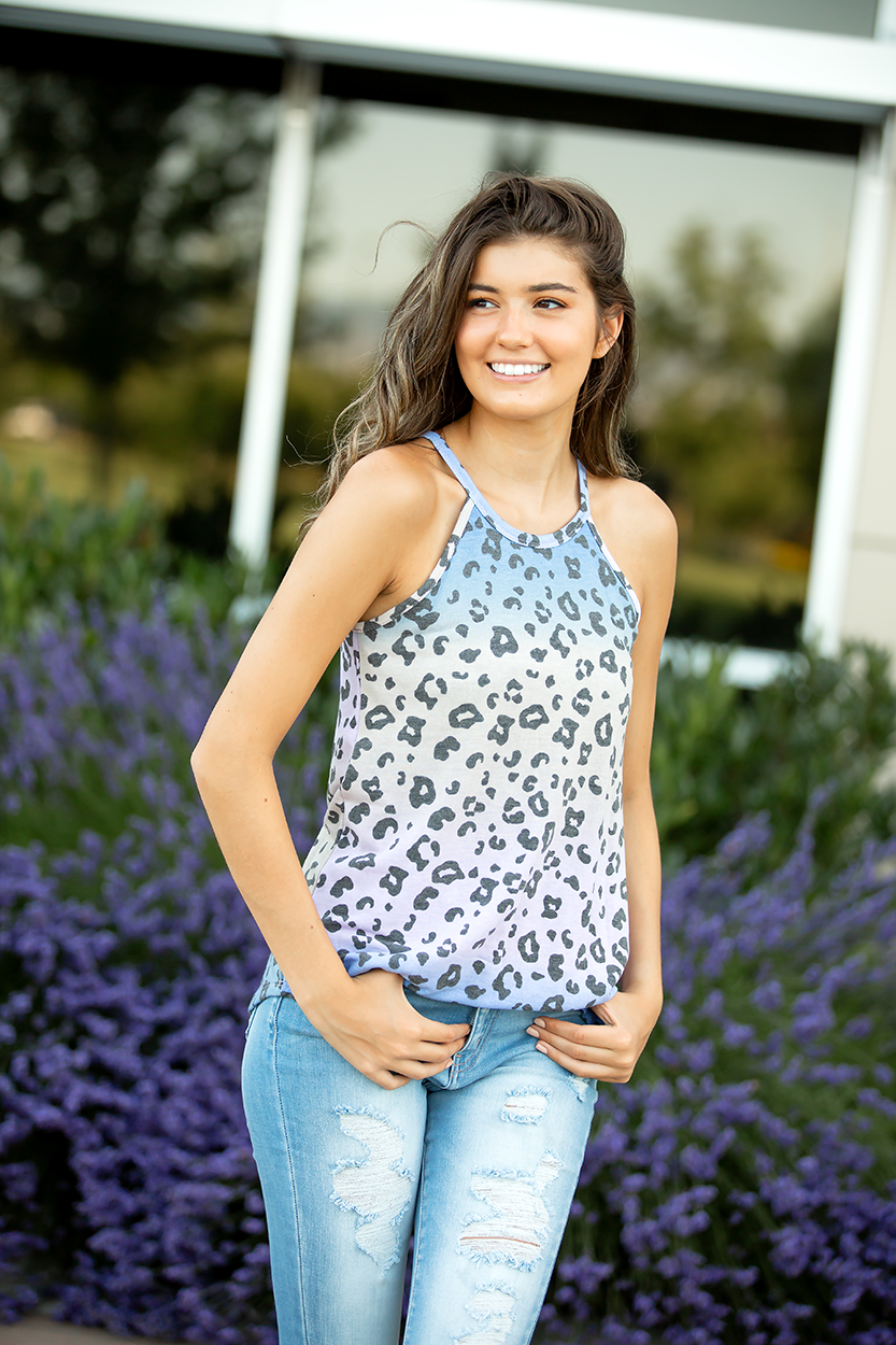 Blue Skies Multi Color Animal Print Tank