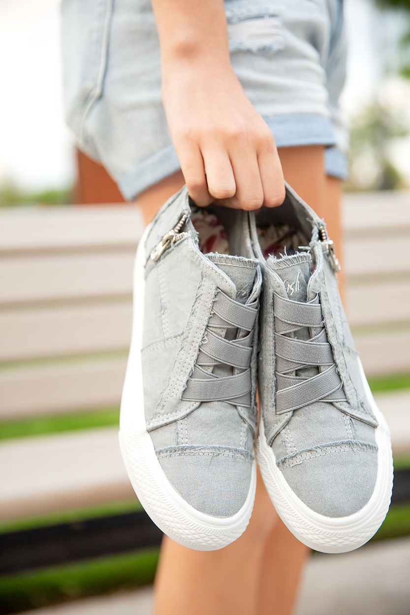 Blowfish Sneakers in Gray High Rise