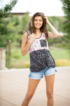 Be Anything Floral Tank in Dusty Pink