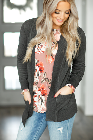 Everyday Cardigan in Charcoal