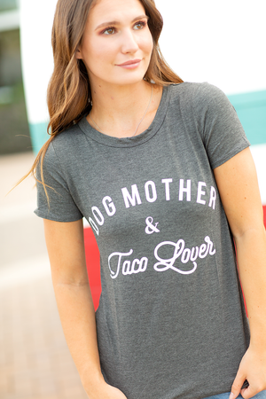 Dog Mother and Taco Lover Graphic Tee