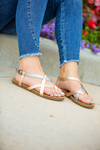 Blowfish Style and Comfort Sandals in Rose Gold and Pewter