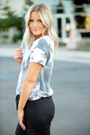 Girl Like You Grey and Ivory Tie Dye Top