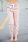 Take a Chance Joggers in Heather Pink