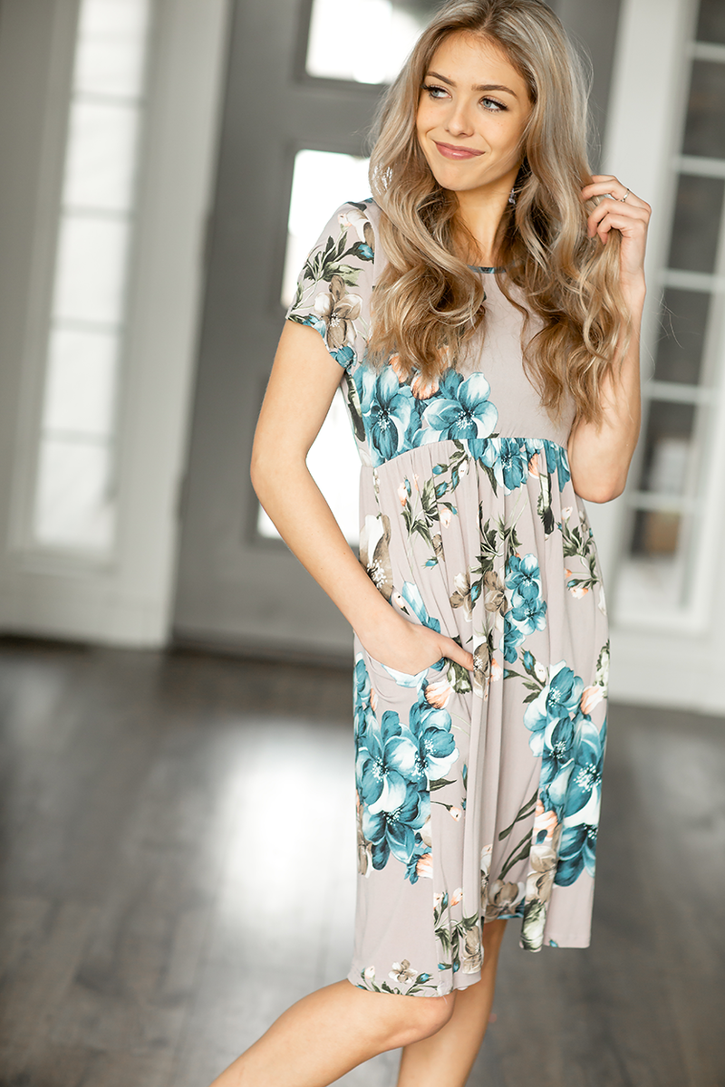Lean a Little Closer Floral Dress in Lilac