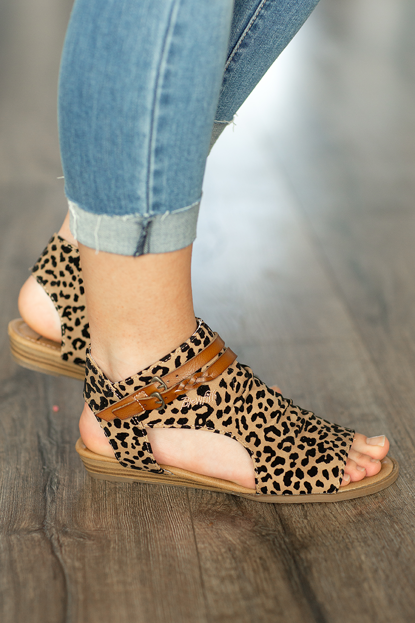 Blowfish On The Hunt Sandals in Animal Print