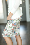 Wake Up and Go Floral Skirt in Ivory