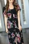 Fancy In Floral Maxi Dress in Black (SALE)
