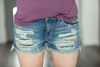 KanCan Always On Time Frayed Distressed Shorts