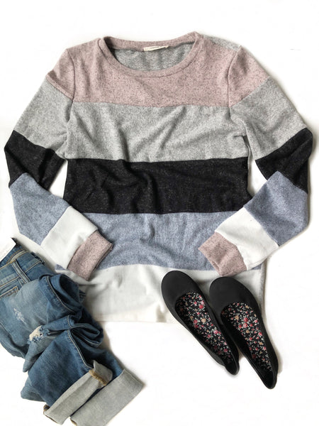 Do Me A Favor Color Block Top
