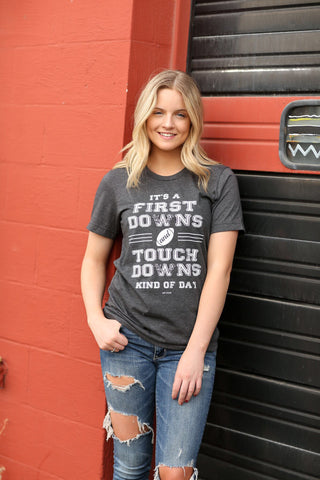 First Downs and Touch Downs Graphic Tee