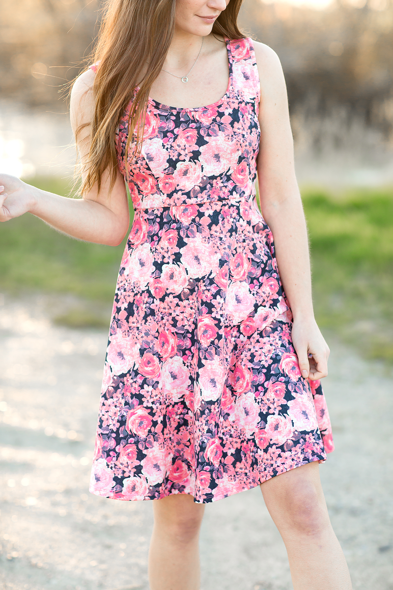 All About The Sunshine Coral Floral Dress