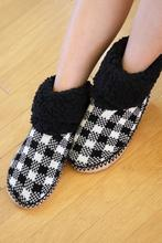 Buffalo Plaid Sherpa Lined Slippers