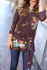 Unforgettable Day Floral Top in Deep Plum