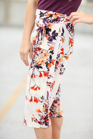 Sweet Thing Floral Wrap Skirt (SALE)