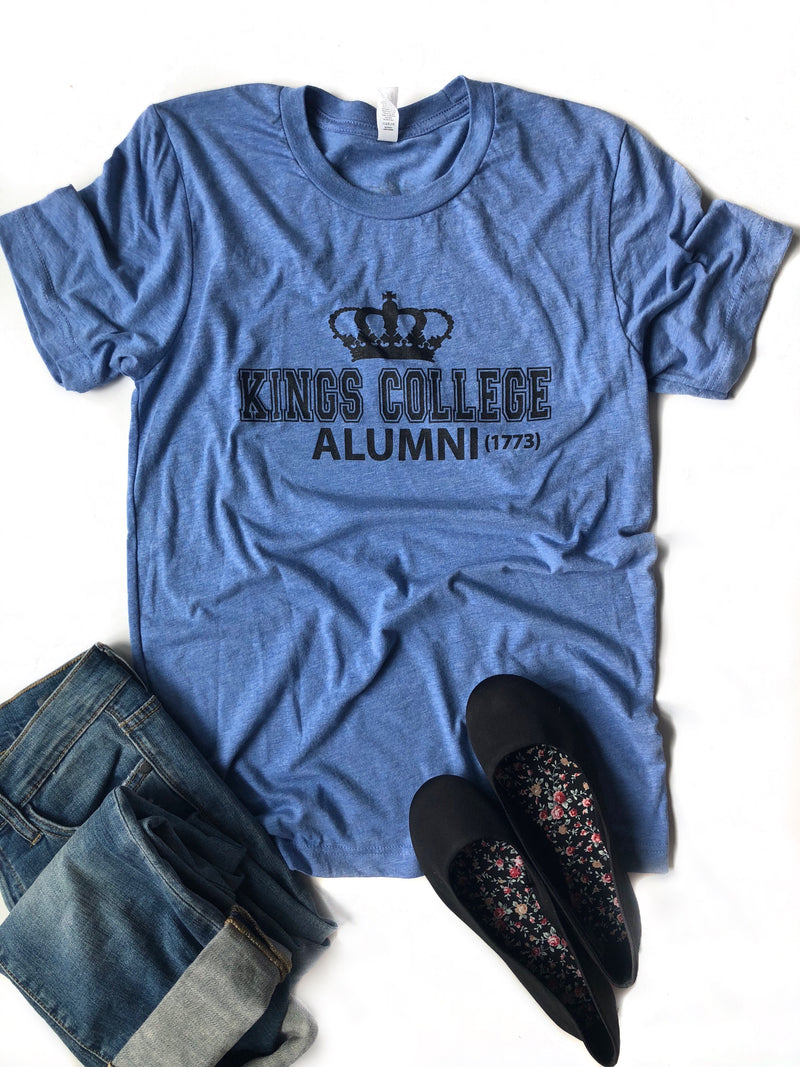 Kings College Graphic Tee in Blue