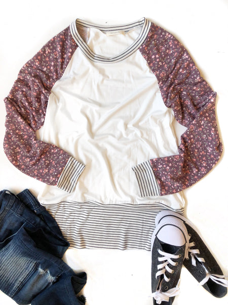 Complete The Look Floral and Striped Top