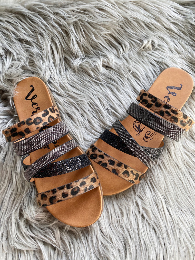Very G Sandals in Animal Print and Black