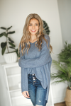 Carry On Pullover Sweater in Heathered Denim