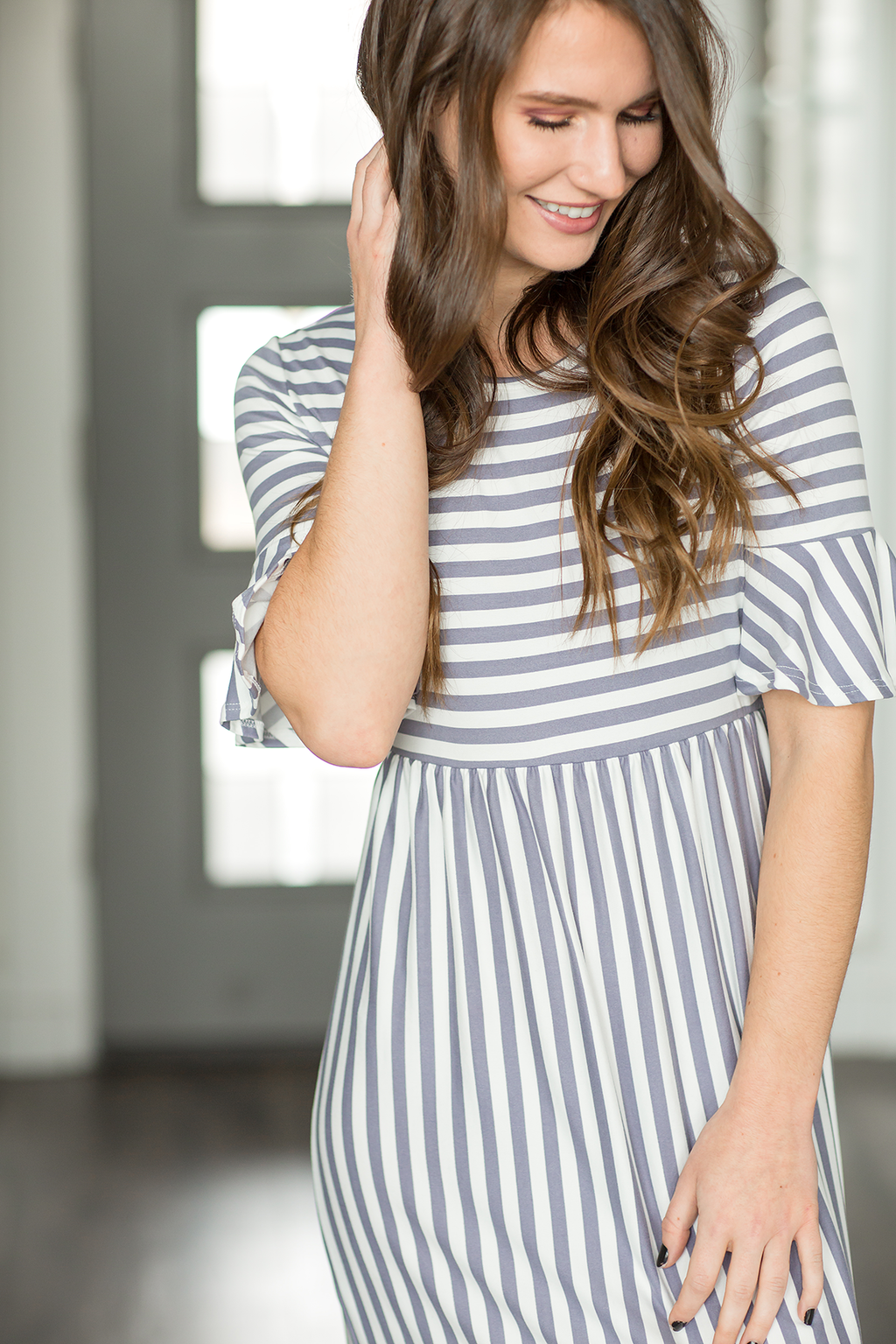 Forever Mine Striped Dress in Lilac