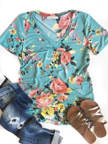 All Smiles Floral Top