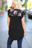 Need To Know Floral Detailed Top in Black (SALE)