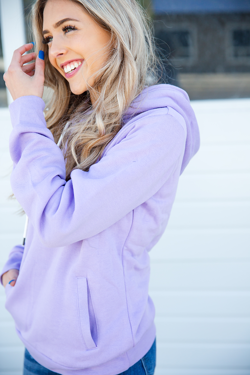 In Your Way Hoodie in Lavender